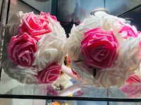 3 Pink and white wedding bouquet  Fairmount Heights, 20743