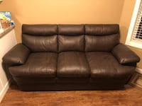Brown leather couch for sale. Does not work with our other furniture. 3498 km