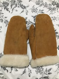 Rabbit fur mittens