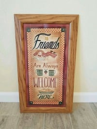 Wood Framed Picture with Glass Insert  Dover
