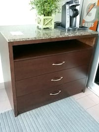 brown wooden 3-drawer chest Mississauga