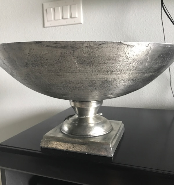 Silver decor bowl