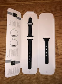 black Apple Watch with black sports band Weehawken, 07086