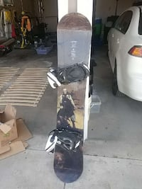 Lamar snowboard with bindings