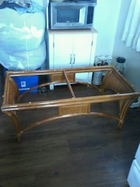 Rectangular rattan coffee table without glass top Belleville