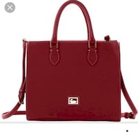 Red leather 2-way handbag, brand new dooney and bourke Surrey, V3R 4H1