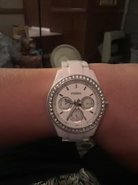 round silver Michael Kors chronograph watch with link bracelet Oklahoma City