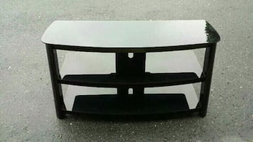 Glass  table tv