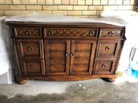 brown wooden 6-drawer lowboy dresser Toronto, M6A 1X2
