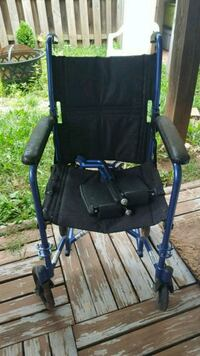 black and blue camping chair Centreville, 20120