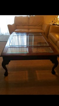 rectangular glass top table with black wooden frame Woodbridge, 22191