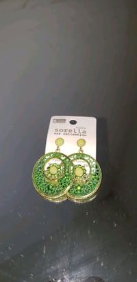 Green round earrings  Oxon Hill, 20745