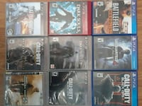 six assorted Sony PS4 game cases Quinte West, K8V 5P8