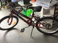 black and red hardtail mountain bike Oakville