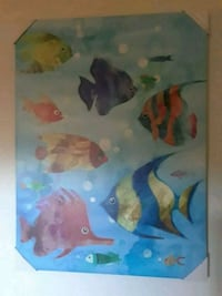 New print on canvass tropical fish picture Phoenix, 85024