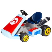 Nintendo Super Mario Kart Deluxe Ride-On with 12V Battery Power  Brand new in the box, box is missing a piece that was torn off. Doesn't affect the Ride On toy. Everything is brand new and never opened.  and on /off road tires New maximum speed up to 4.7