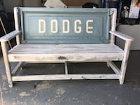 white and green Dodge print bench Maurice, 70555