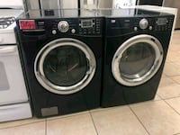 two black front-load clothes washer and dryer set Los Angeles, 91401