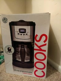 black and gray cooks coffeemaker unopened  Gaithersburg, 20878