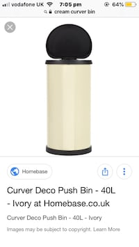 Curver Deco push bin 40L Ivory London, NW9