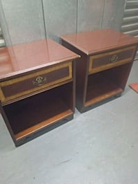 two brown wooden side tables Washington, 20018
