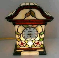 Antique Tiffany Style Table Clock