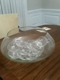 Punch bowl with cups