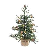 2.5' Pine Artificial Christmas Tree with 50 warm white led lights 536 km