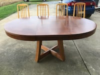 Brown wooden table with chairs 43 km