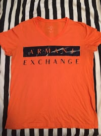 orange and black crew-neck t-shirt Victoria, V9A 2B1