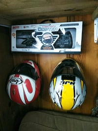 two white and red full-face helmets Kingsport, 37660
