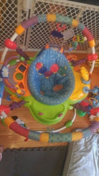 baby's green and blue activity saucer 20 mi