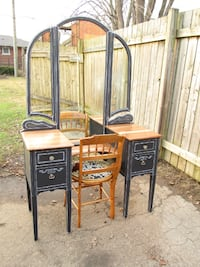 Antique Vanity with Mirror and Chair 285.00 obo