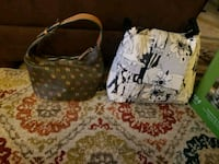 two brown and white leather handbags Alexandria, 22307