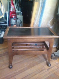 Rolling coffee table TV stand