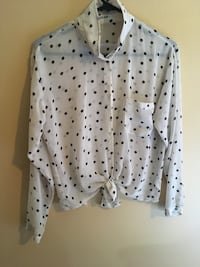 white and black polka dot dress shirt Greater Sudbury / Grand Sudbury, P3P 1L3