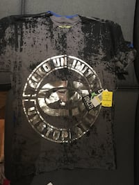 gray and black Ecko Unlimited crew-neck t-shirt