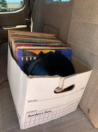 About 100 vinyl records