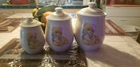 three white bear printed ceramic canisters El Paso, 79903