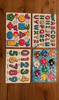 Toddler puzzles (ABC, numbers, shapes, colors)