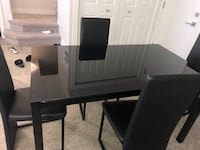 black wooden desk with hutch CALGARY