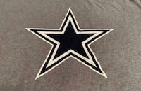 Large Dallas Cowboys Lone Star NFL Football Gray Shirt