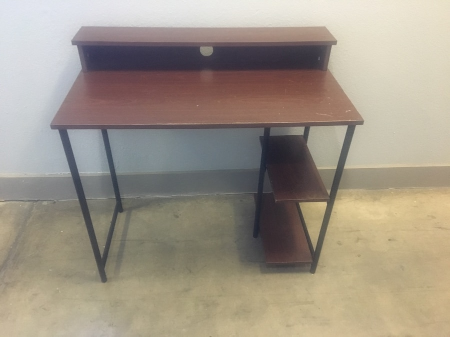 used computer study desk 36 inches wide by 30 inches tall by 20 rh gb letgo com