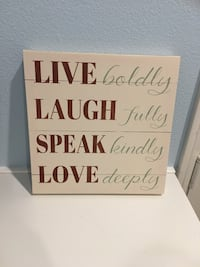 "Live, Laugh, Speak, Love Sign  11.5"" x 11.5"" Palmdale, 93550"