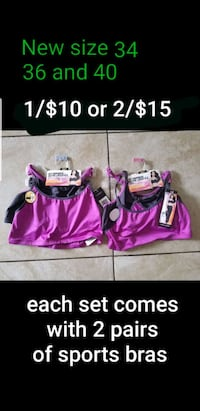 New sports bras size 34 36 and 40 Las Vegas, 89120