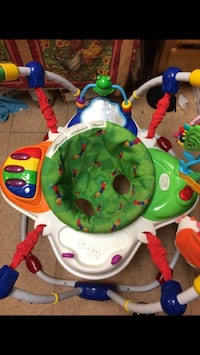 baby's multicolored jumperoo