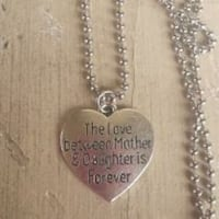 Mother and daughter forever necklace Christmas  539 mi