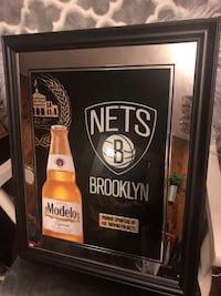 Beer sign,Brooklyn Nets mirror almost 2 feet Paterson, 07505
