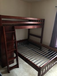 Solid Wood Twin over Full bed with drawer storage BOWIE
