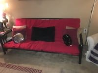 Red and black fabric sofa Hyattsville, 20781